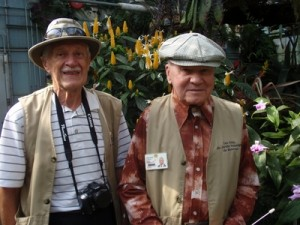 Raymond Dufort (left) and a ninety-two year old volunteer (right)