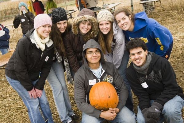 Volunteers at Denver Botanic Gardens at Chatfield's Annual Pumpkin Festival