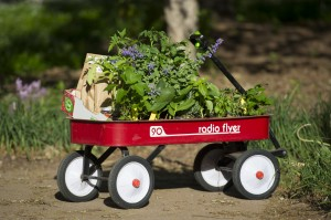 Spring Plant Sale wagon