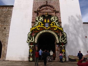 Church floral display