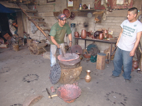 Copper artisans at work