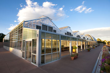 12-greenhouse complex at Denver Botanic Gardens
