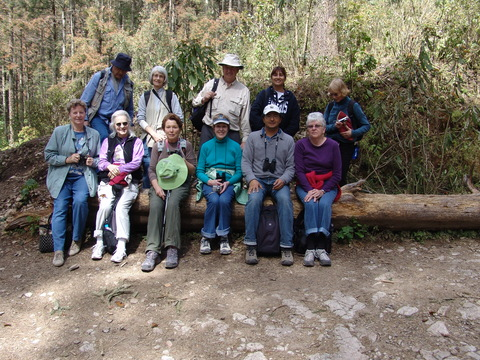 Group at Sierra Chincua Monarch Sanctuary