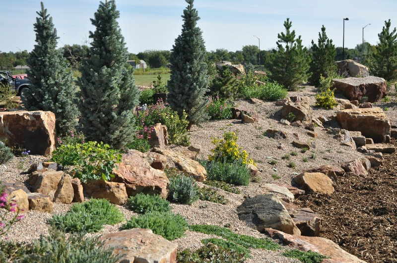 Landscaping rock parker co : Its newest display garden a one half acre rock to the public