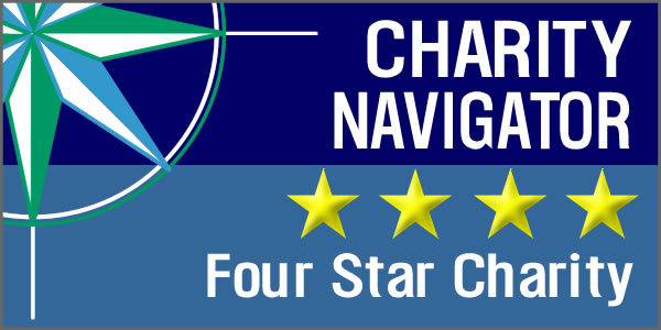 Charity Navigator Four Star Rating logo