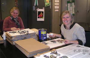 January interns in the herbarium