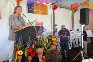 Gary Smith, designer of the garden