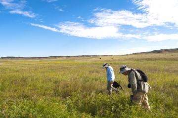 Enjoying the view at Soapstone Prairie Natural Area