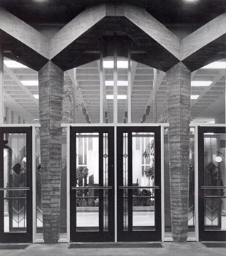 Entrance to the Boettcher Memorial Center, ca. 1972