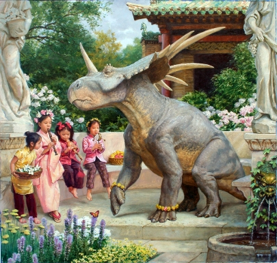 Song in the Garden by James Gurney