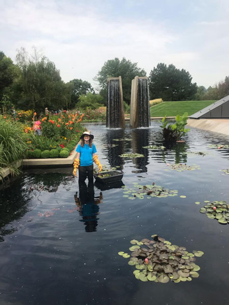 Jocelyn helping in the water gardens
