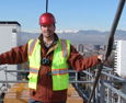 Bright Vogt, CEO, looking onward to 2009 from the top of the 130 foot tower crane.