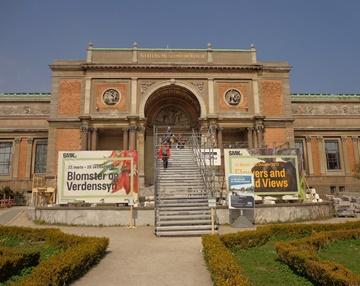 Danish State Art Museum (SMK) Front entry in repair!