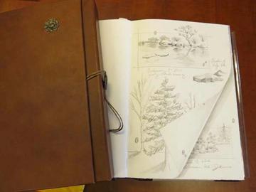 Jessy Bergeman's sketch from the Japanese Garden